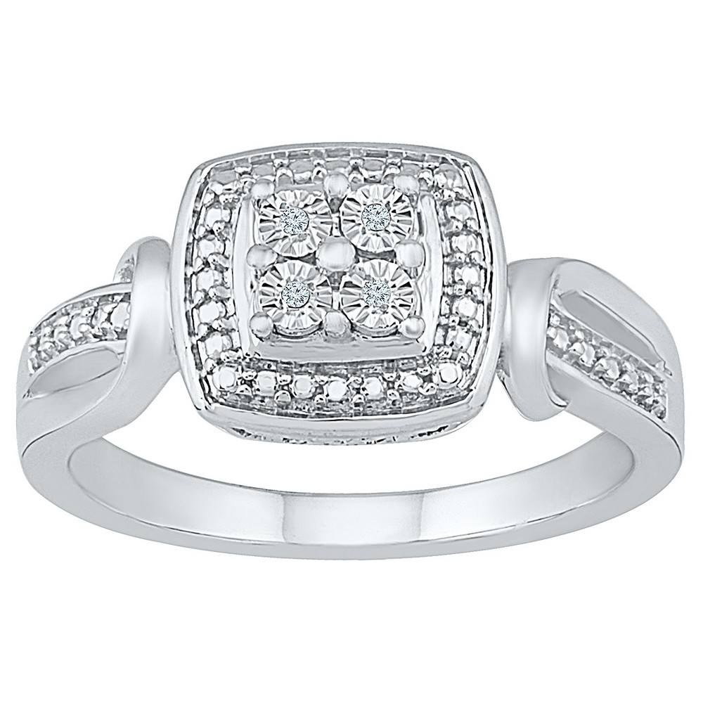 Diamond Accent Round White Diamond Fashion Ring in Sterling Silver (I-J,I2-I3) (Size 7.00)