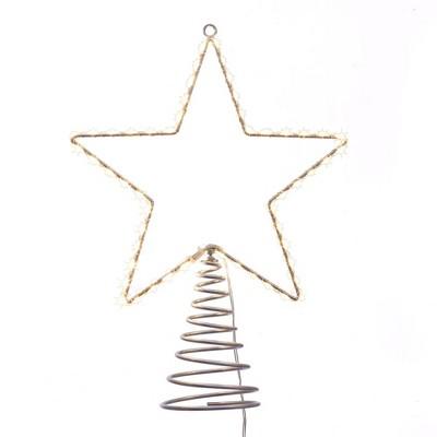 "Kurt Adler 17.5"" Metal Lighted LED Star Treetop"