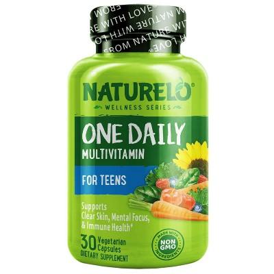 Naturelo Teen Boys & Girls Daily Multivitamin Capsules - 30ct