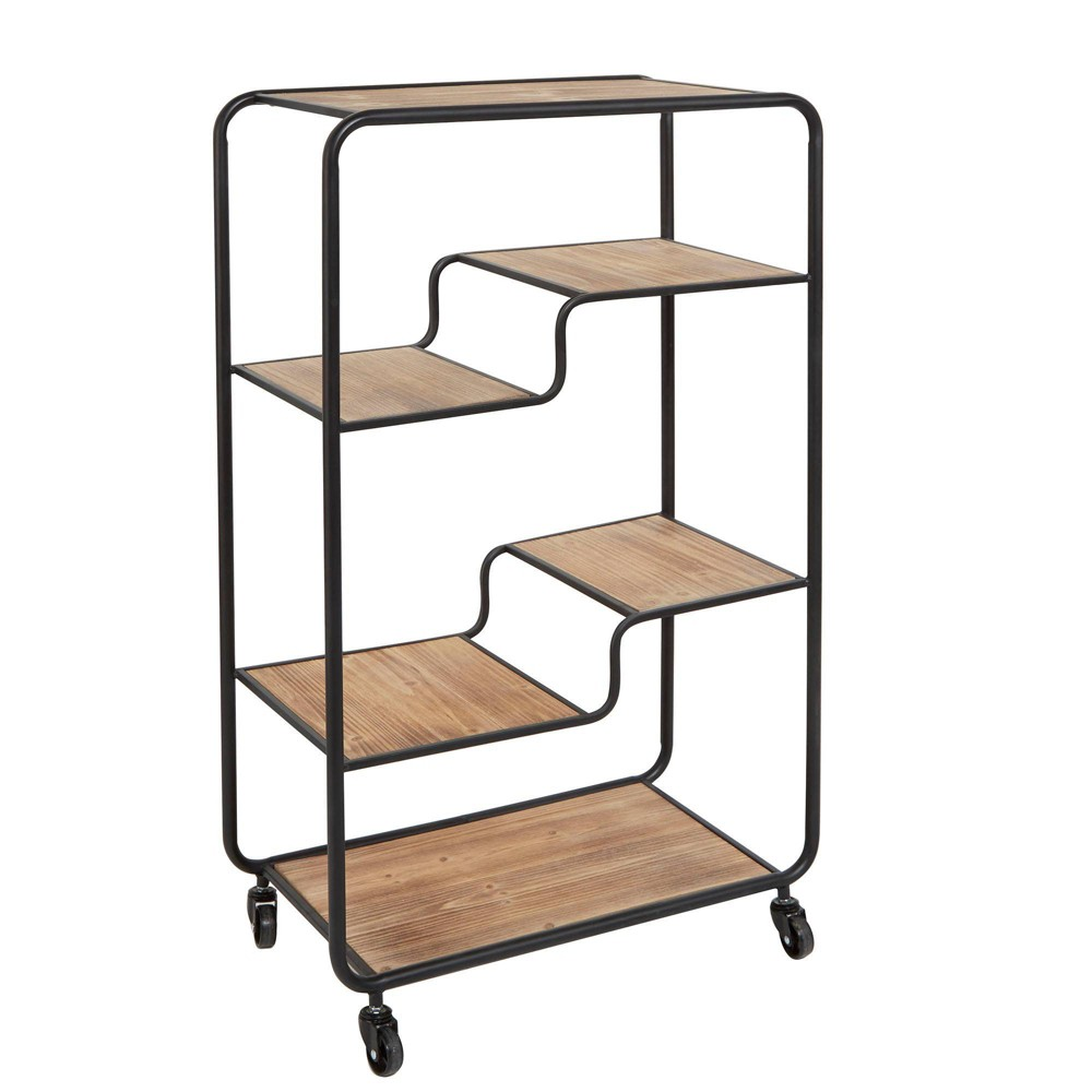 Image of Franklin Multi tiered Slim Table Cart Gray - Silverwood, Brown Gray