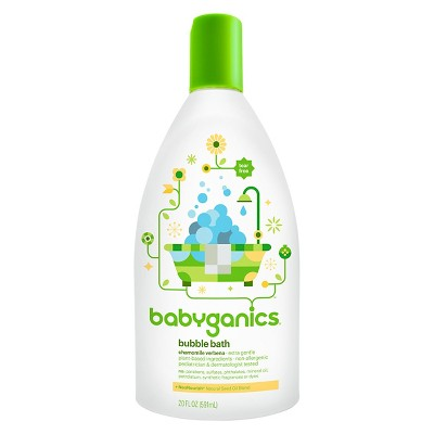 Babyganics Baby Bubble Bath, Chamomile Verbena - 20oz Bottle