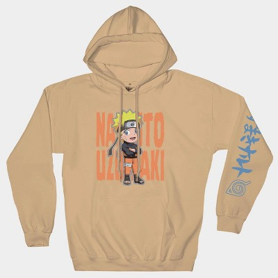 Men's Naruto Hooded Graphic Sweatshirt - Beige