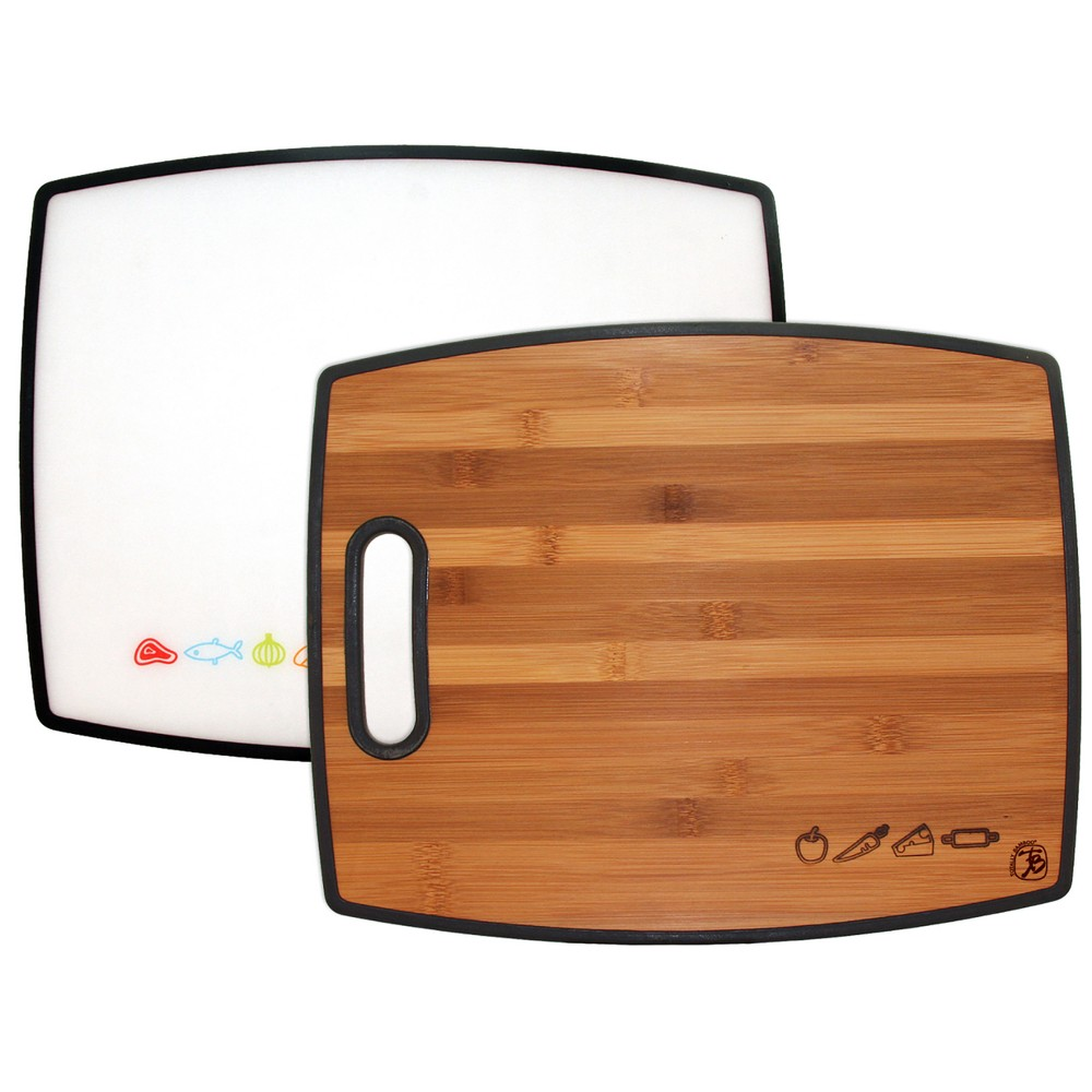"Image of ""Totally Bamboo 2-in-1 Bamboo Cutting Board 15"""""""