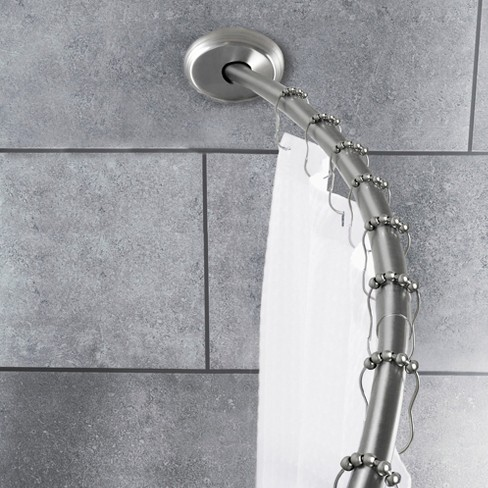 2 Way Mount Curved Shower Rod Brushed Nickel - Threshold™ : Target
