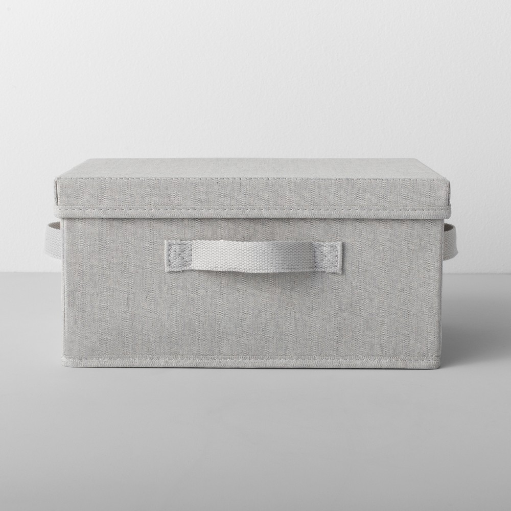 Standard Fabric Shoe Bin With Lid Light Gray - Made By Design