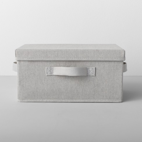 Standard Fabric Shoe Bin With Lid Light Gray - Made By Design™ - image 1 of 9