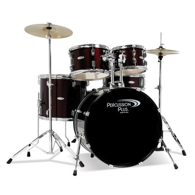Percussion Plus Drums 5pc Drum Set - Red