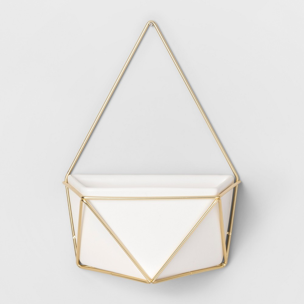 Succulent Wall Geometric Hanging White/Gold - Project 62