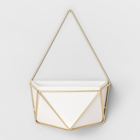 Succulent Wall Geometric Hanging White/Gold - Project 62™ - image 1 of 8