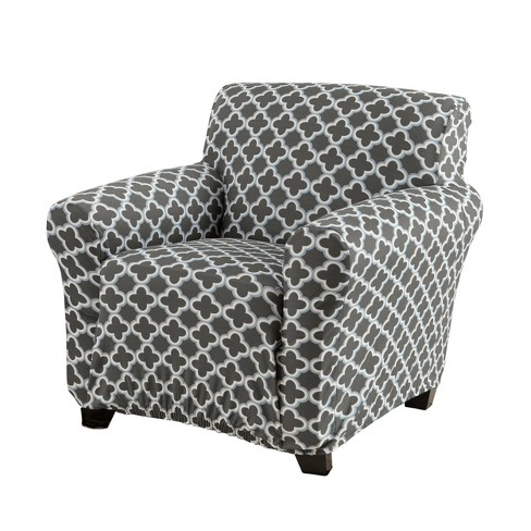 Home Fashion Designs Brenna Collection Twill Stretch Chair Slipcover Charcoal Target
