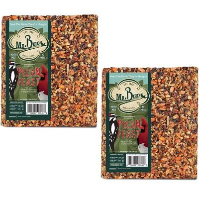 "Home & Garden 7.38"" Pecan Feast Large Cakes Set/2 Bird Feeding Pecan Woodpecker Mr Bird  -  Bird And Wildlife Food"