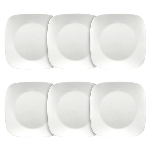"""Corelle Square Lunch Plates White - 9""""x9"""" Set of 6 - image 1 of 1"""