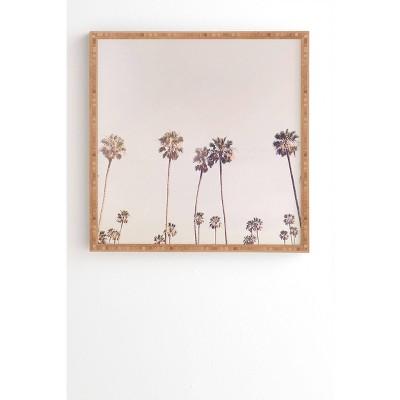 "30"" x 30"" Sisi and Seb Sunny Cali Palm Trees Framed Wall Art Pink - Deny Designs"