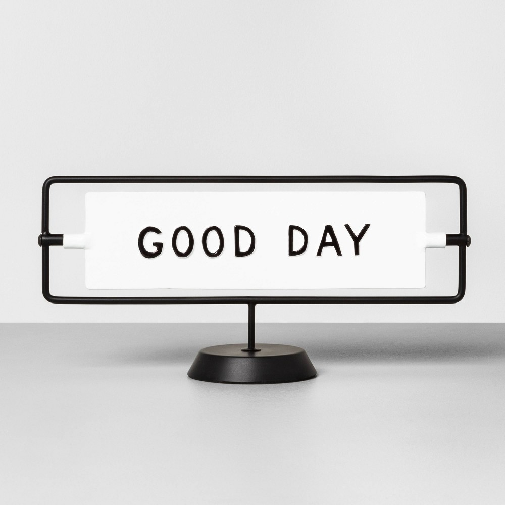 Image of Good Day / Good Night Reversible Sign Sour Cream - Hearth & Hand with Magnolia