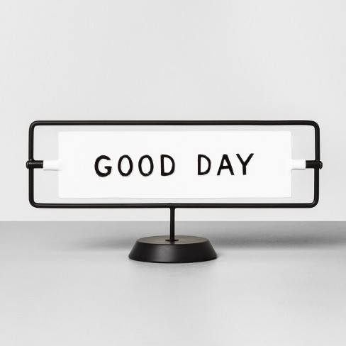 'Good Day / Good Night' Reversible Sign White/Black - Hearth & Hand™ with Magnolia - image 1 of 3