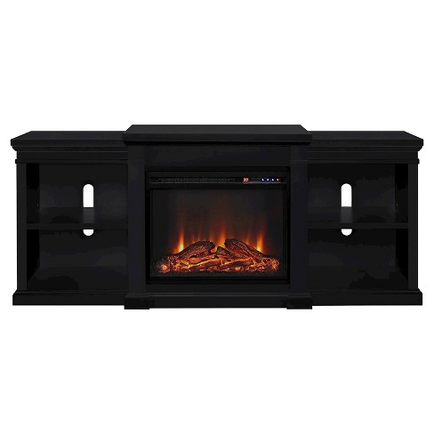 union electric fireplace tv stand with side shelves for tvs up to 70 room joy - Electric Fireplaces With Tv Stands