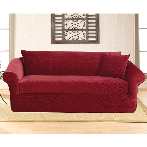 Stretch Pique 3 Piece Sofa Slipcover - Sure Fit : Target