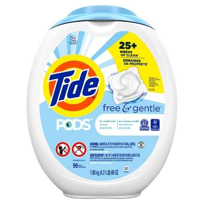 Tide PODS Laundry Detergent Pacs Free & Gentle