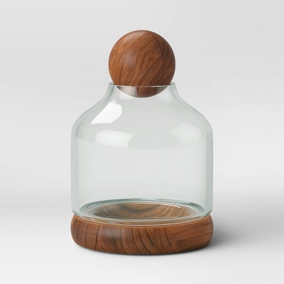 Recycled Glass/Wood Terrarium Blue - Smith & Hawken™