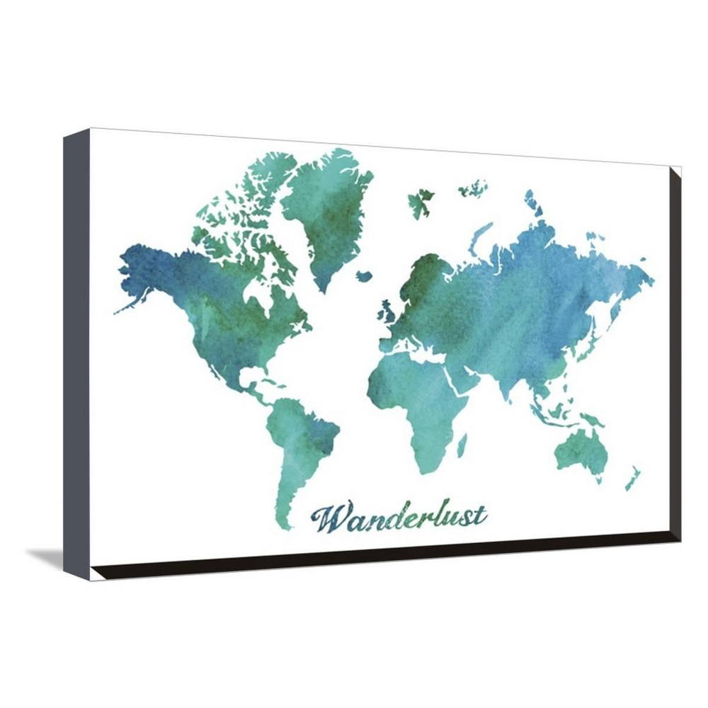 Wanderlust By Erin Clark Stretched Unframed Wall Canvas Print 20