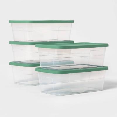 6qt Shoe Box 5pk Lids Crisp Green - Room Essentials™