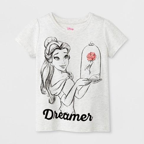222be2ec Toddler Girls' Disney Princess Belle Short Sleeve T-Shirt - White ...