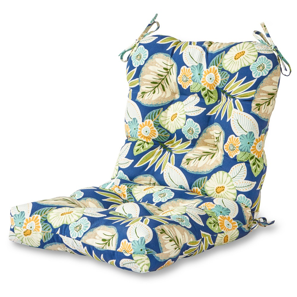 Image of Marlow Floral Outdoor Seat/Back Chair Cushion - Greendale Home Fashions