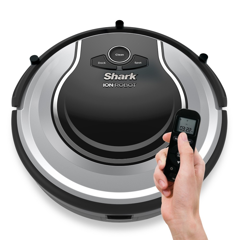 Shark Ion Robot Vacuum with Remote - RV720, Silver The market leaders in upright vacuums* have made a robot. The Shark Ion Robot is the perfect solution for everyday upkeep. With Smart Sensor Navigation to ensure your robot easily navigates your home and hair detangling technology, vacuuming with a Shark(R) has never been easier. *Based on Dollar Sales Npd Pos 6/16-7/17 Color: Silver.