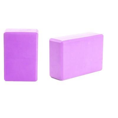 Mind Reader Set of 2 Yoga Blocks High Density EVA Foam with Non-Slip Surface for Yoga