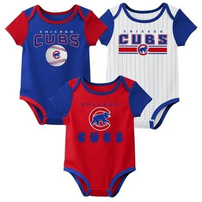 MLB Chicago Cubs Baby Boys' 3pk Bodysuit Set