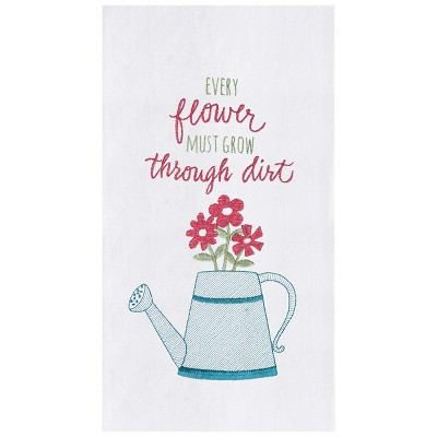 C&F Home Every Flower Embroidered Flour Sack Kitchen Towel
