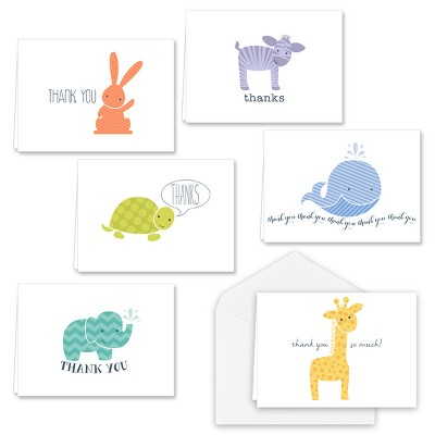 36ct Baby Animals Thank you Cards