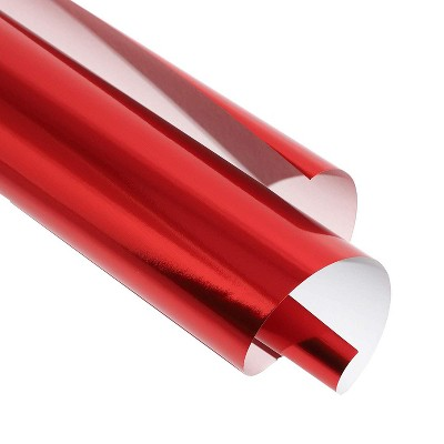 Bright Creations 50 Sheets Metallic Red Foil Paper for Arts Crafts & Wrapping, A4 Letter Size 8.5x11 in