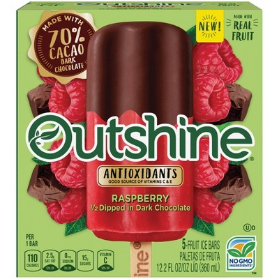 Outshine Half-Dipped in Chocolate Raspberry Frozen Fruit Bar - 5ct