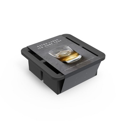 Silicone Ice Tray - 4 Cube - Charcoal Gray