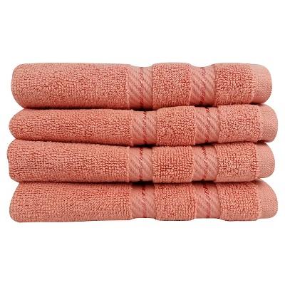 4pc Antalya Turkish Washcloth Set Orange - Makroteks