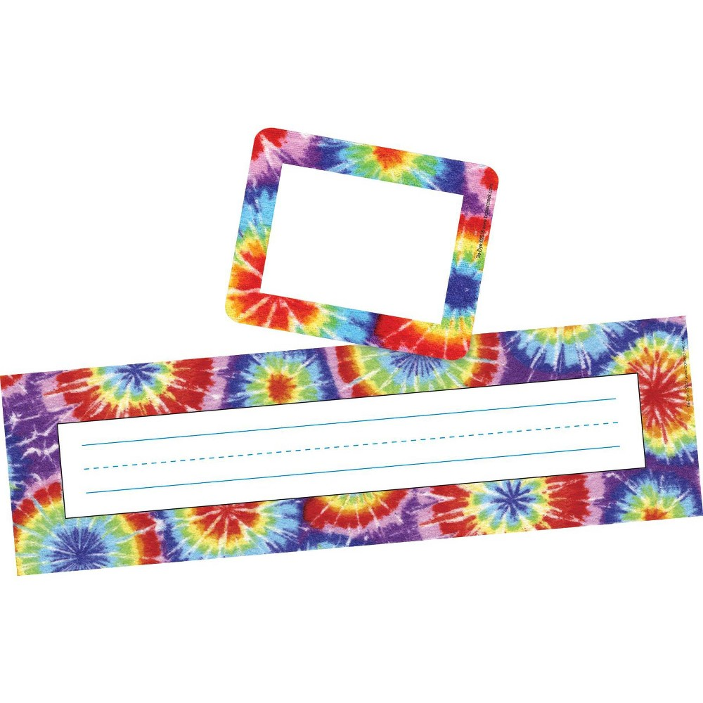 Image of Barker Creek 81pc Tie Dye Nametag and Name Plate Set