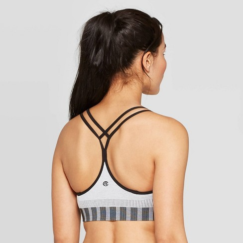 Women's Seamless Ribbed Padded Strappy Sports Bra - C9 Champion® - image 1 of 2