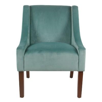 Modern Velvet Swoop Arm Accent Chair - Homepop