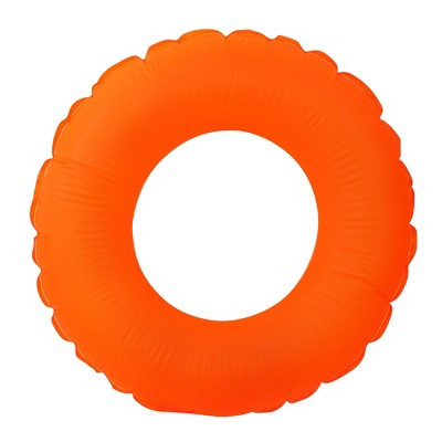 """Pool Central 30"""" Inflatable 1-Person Swimming Pool Inner Tube Ring Float - Orange"""