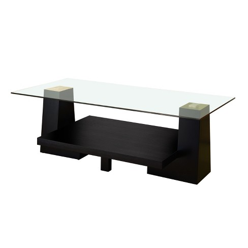 Jeanna Modern Leveled Coffee Table Black - HOMES: Inside + Out - image 1 of 3
