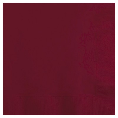 50ct Burgundy Red Disposable Napkins