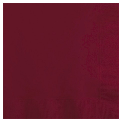 50ct Burgundy Red Disposable Napkins - image 1 of 3