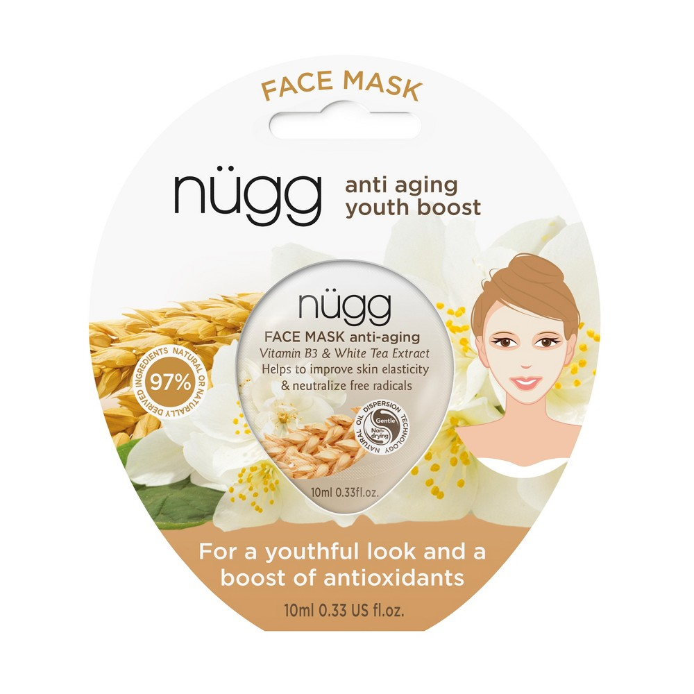 Image of nügg Vitamin B3 & White Tea Extract Anti-Aging Face Mask - 0.33 fl oz