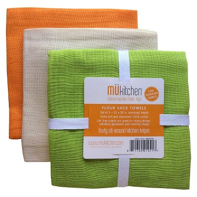 3pk Flour Sack Kitchen Towels - MU Kitchen