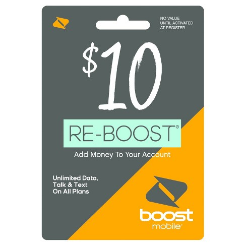 Boost Mobile $10 Prepaid Card (email Delivery) : Target