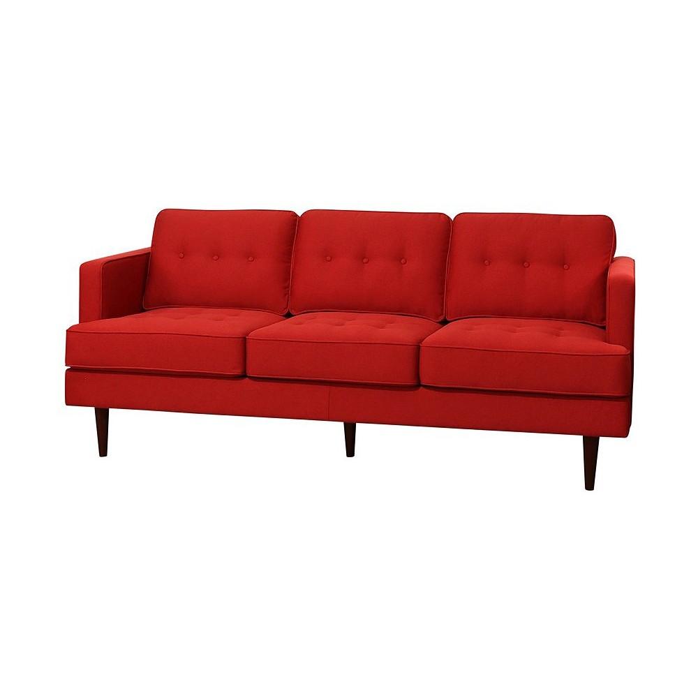 Porter Mid Century Tufted Sofa - Red - Abbyson