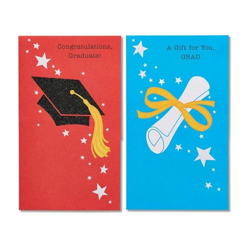 6ct Graduation Cap And Diploma Graduation Greeting Card - image 1 of 4