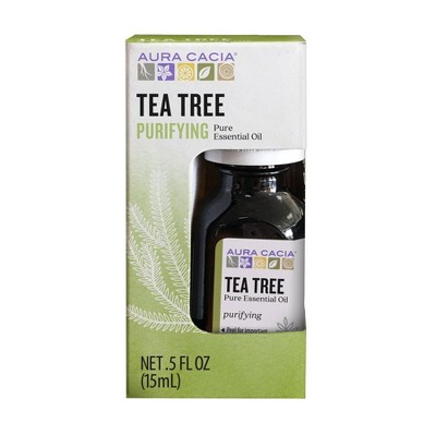 Aura Cacia Tea Tree Purifying Pure Essential Oil - 0.5 fl oz