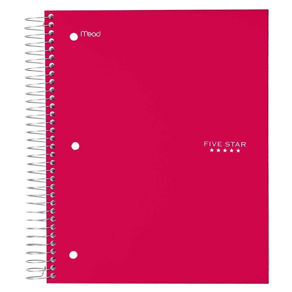 Image of FiveStar 5 Subject Wide Ruled Solid Spiral Notebook